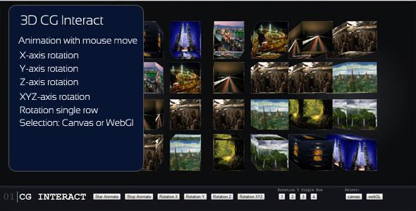 Interactive 3D CGGallery - HTML5