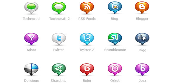 Social Media Bubblicons: Icon Pack
