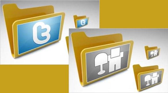 Folder Social Media Icons Set