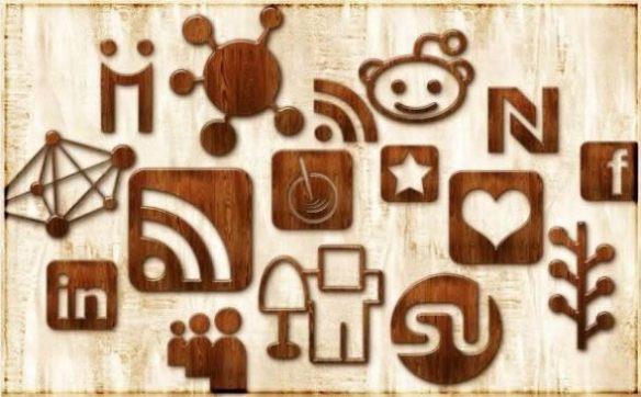 Glossy Waxed Wood Icon Set