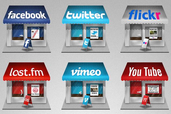 Social Store Icon Set
