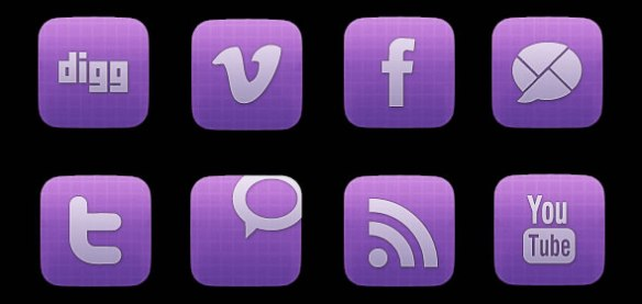 Vibrant Sophisticated Social Media Icon Set