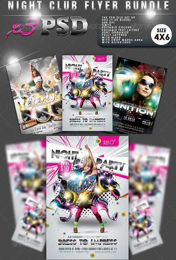 Night Club Flyer Bundle #02