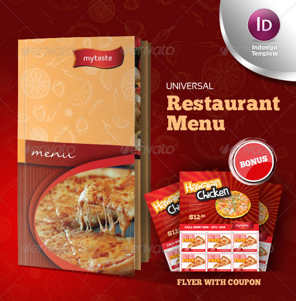 Universal Restaurant Menu Indesign Template