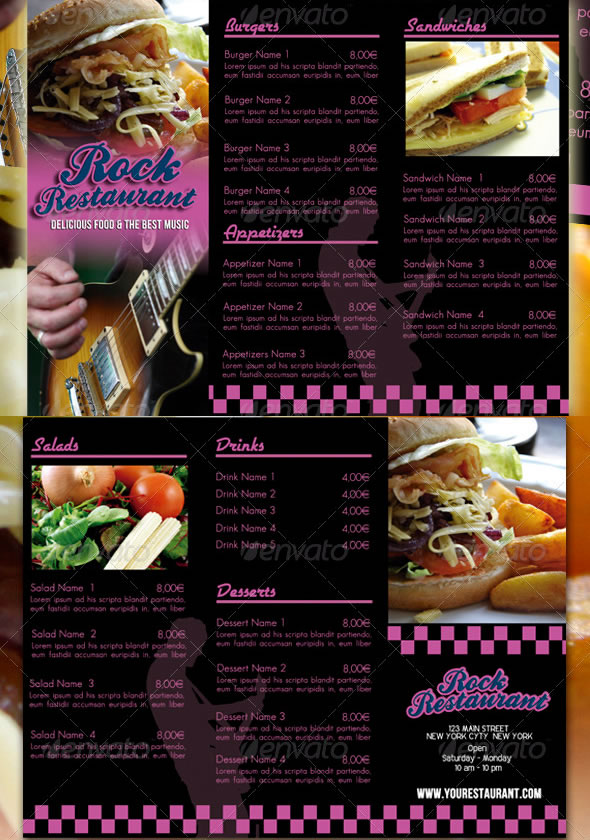 Mouth Watering Restaurant Menu Designs EntheosWeb