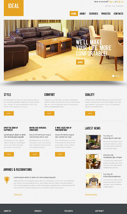Ideal Interior WordPress Theme