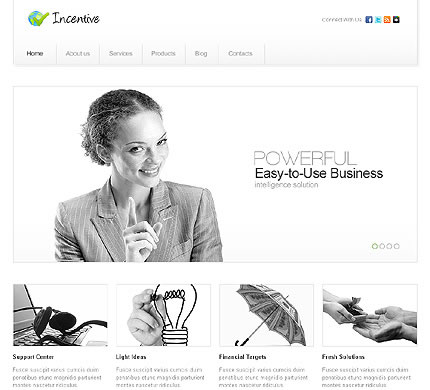 Incentive Business WordPress Theme