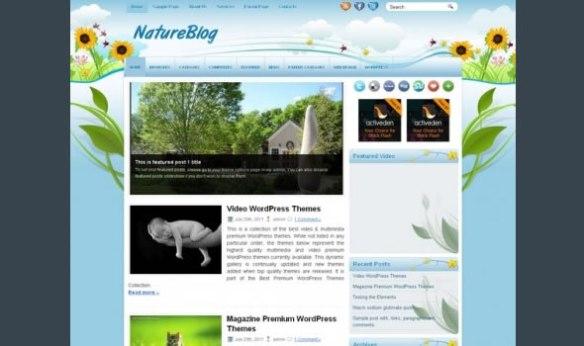WP-Nature Blog WordPress Themes