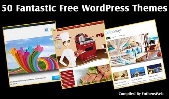 50 Fantastic Free WordPress Themes