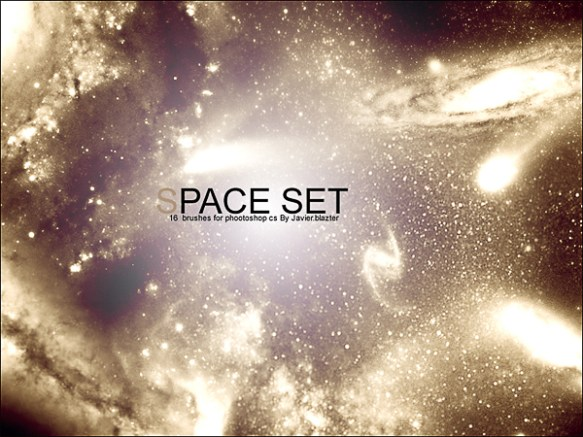 Mind blowing Sparkling Space Photoshop Brushes