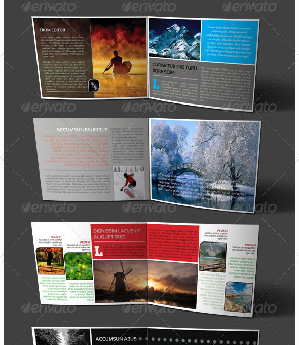 booklet design templates