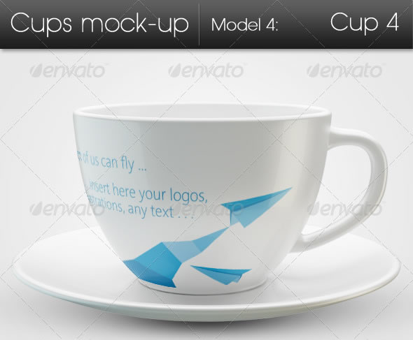Cups Mock-up Model4: Cup4