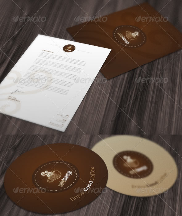 RW Cafe Lounge Identity Package