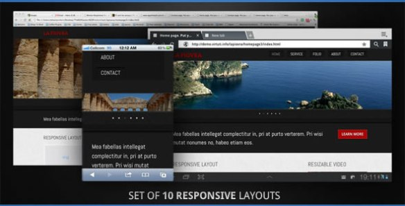 10 Responsive All Devices Layouts. Set. HTML5.