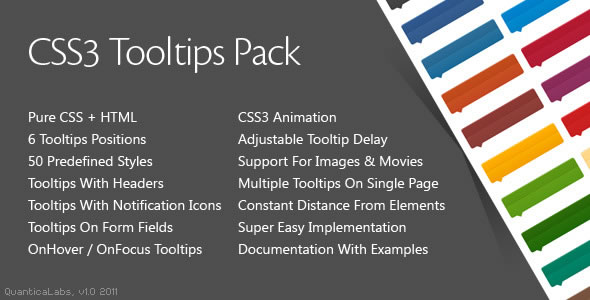 CSS3 Tooltips Pack