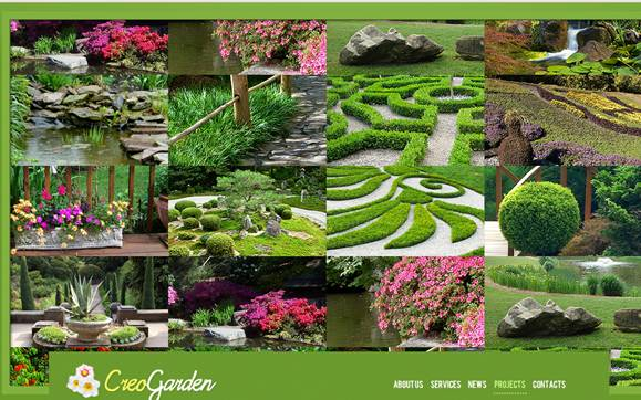 Landscape Design Flash Website Template