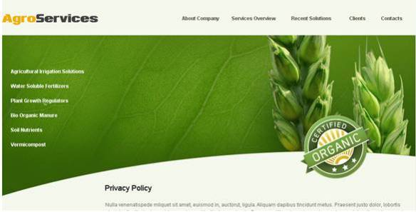 Agro Services Website Template