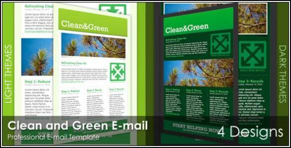 Clean and Green Email - 4 Designs
