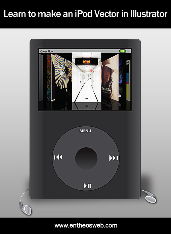 Learn to Make a Vector IPod with Ear - Phones in Illustrator