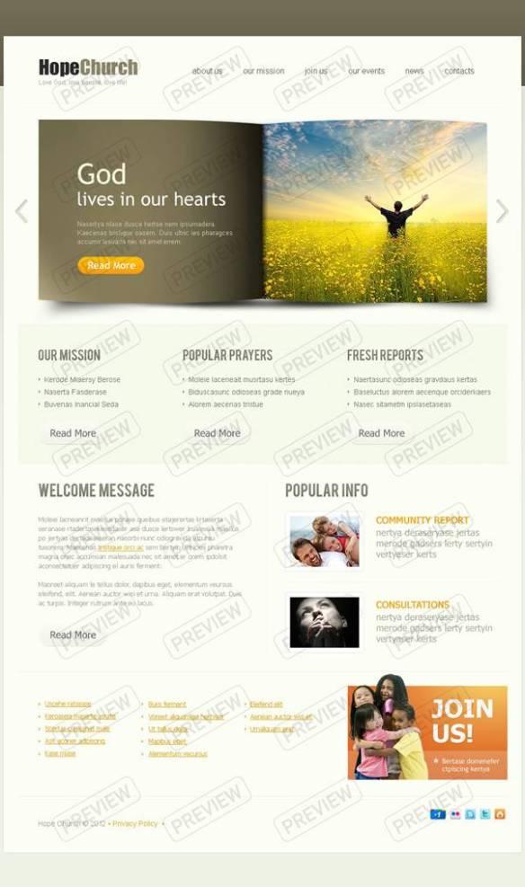 Hope Church Website Template