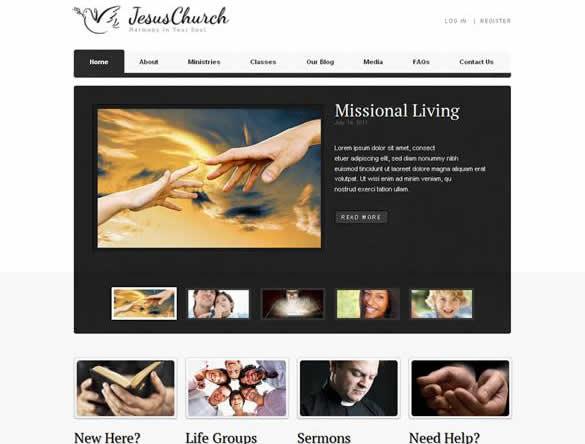 Jesus Church WordPress Theme