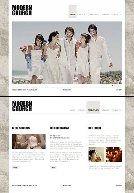 Modern Christian Flash CMS Template