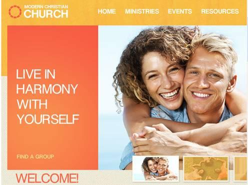 Modern Christian Flash Website Template