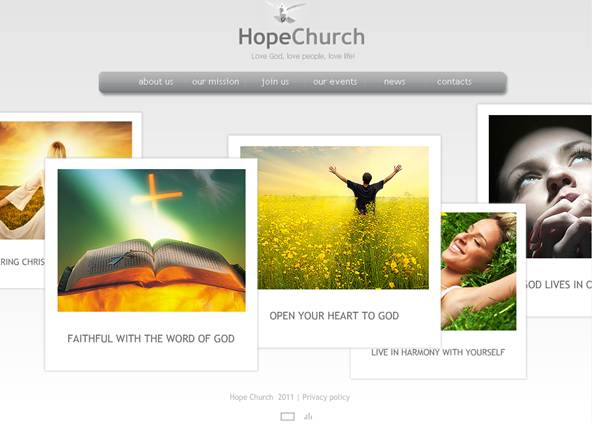 Hope Church XML Flash Website Template