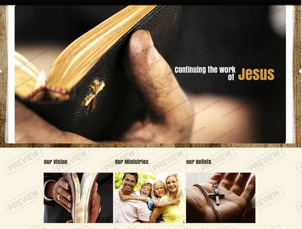 Jesus Church Website Template