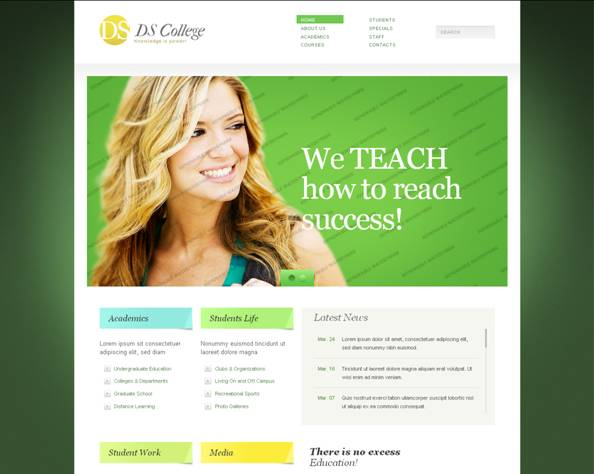 Ds College Website Template
