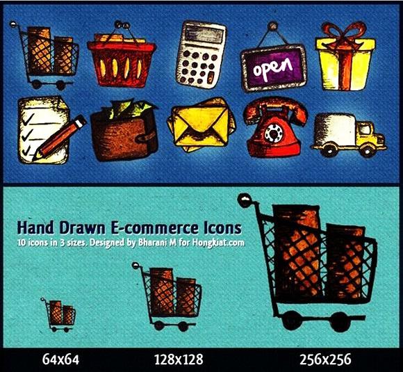 Hand-drawn E-Commerce Icon Set