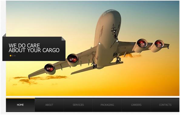 Transportation Company Flash Website Template