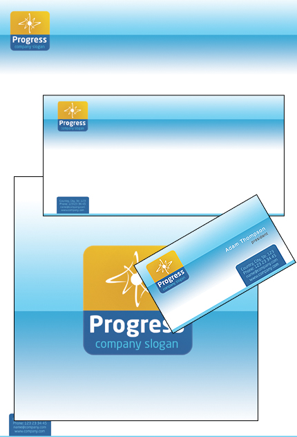 Progress Business PowerPoint Template