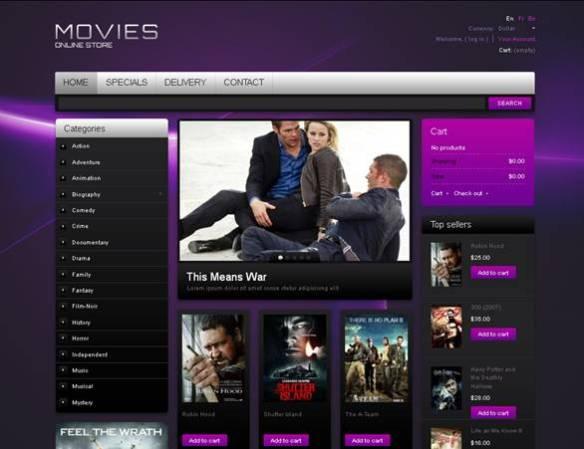 Movies Cd PrestaShop Theme