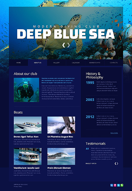 Deep Blue Website Template