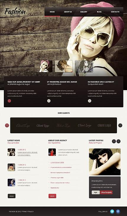 Fashion Models WordPress Theme