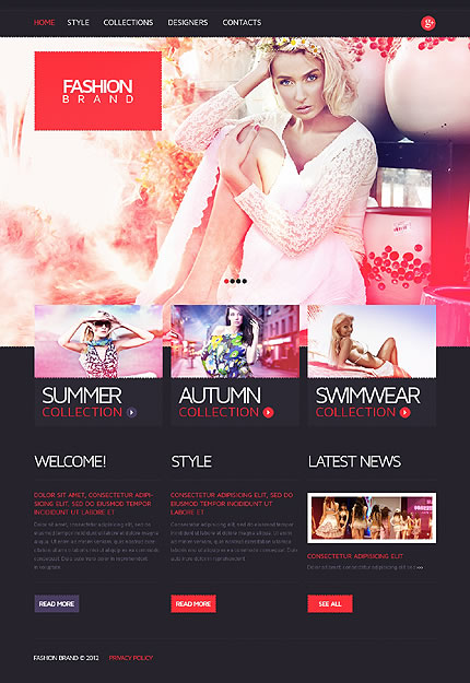 Fashion Brand Website Template