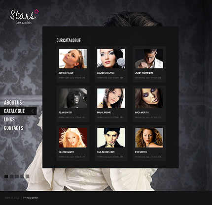 Model Agency HTML5 & jQuery Single Page Website Template