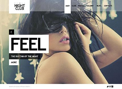 Night Club Joomla Template With Homepage Animation, Photo Gallery & Blog