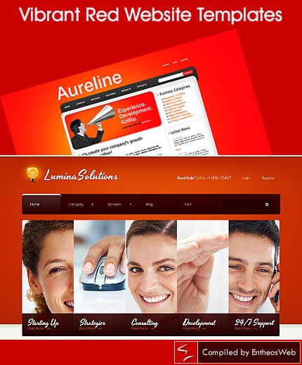 Vibrant Red Website Templates