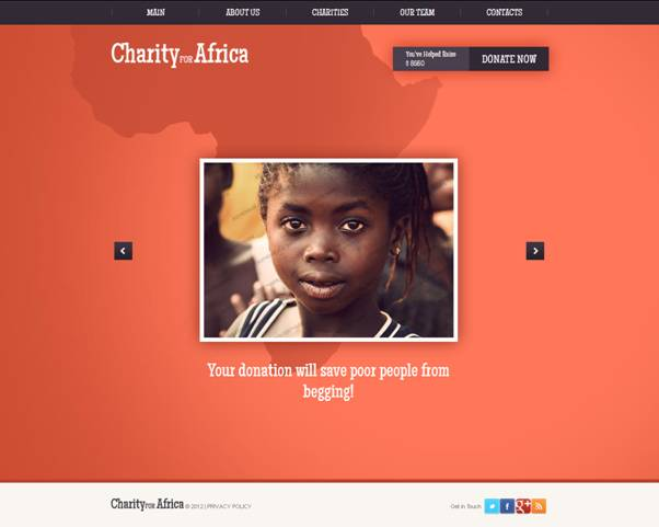 Charity For Africa Website Template