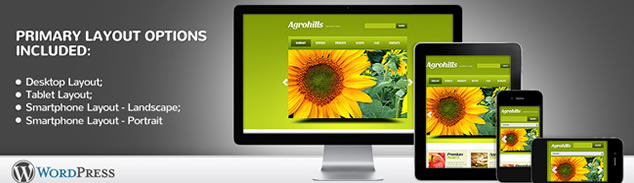 Agriculture Responsive WordPress Theme With jQuery Image Slider & Drop Down Menus