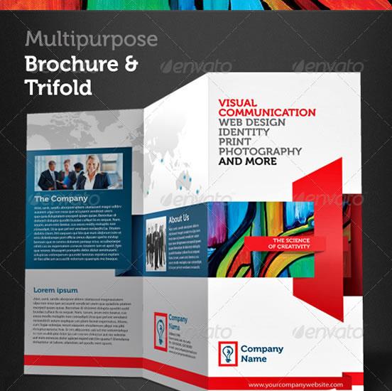 Creative Tri Fold Brochure Design Templates Entheos