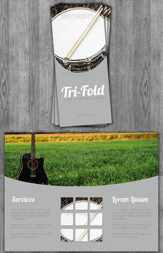 Tri-Fold Music Brochure Template