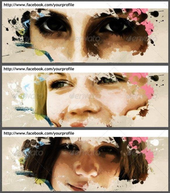 Artistic Facebook Cover Template