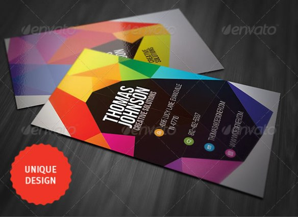 Colorful Geometry Business Card