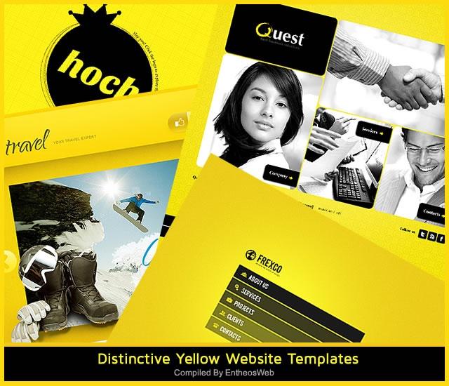 Distinctive Yellow Website Templates
