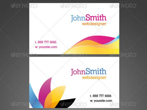 3 Fresh Design Business Cards