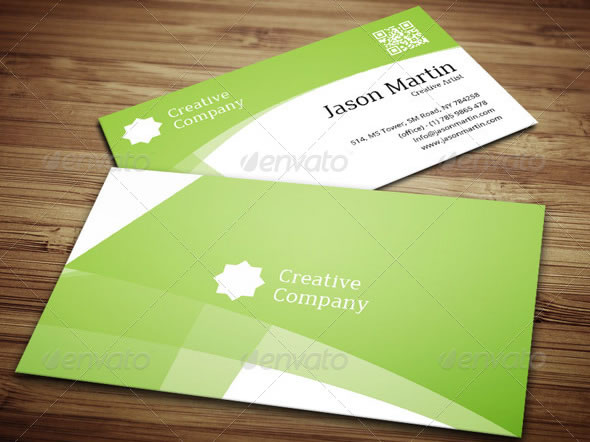 Abstract Background Business Card - 13