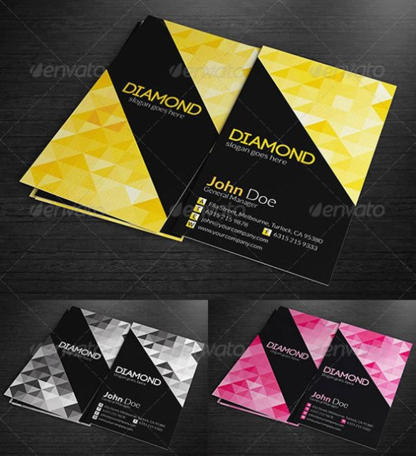 Multipurpose Business Cards - Diamond